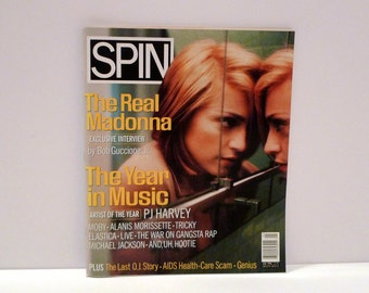 Madonna Spin Magazine Features P J Harvey Artist of the Year Vintage 1990s Best Music Albums of 1995 Interscope Records magazine