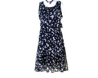 20% OFF SUMMER DRESS! Sleeveless Chiffon Dress, Pull on dress, wrinkle free dress, fully lined, womens clothes, vintage sleeveless dress,