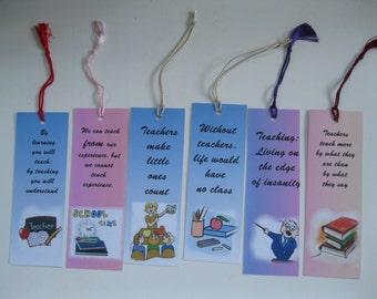 6 Different Handmade Bookmarks For Teachers