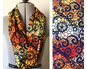 Candy Corn Lace Cotton Lycra Loop Scarf