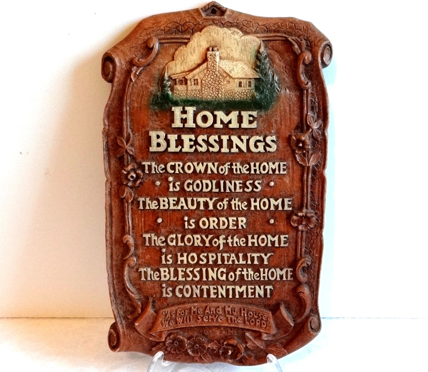 Blessings Home Decor: Vintage Home Blessings Wall Plaque Collectible Home Decor