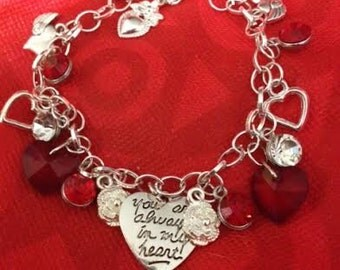 You are always in my Heart charm bracelet