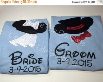 On sale Bride and Groom Disney shirts - Set