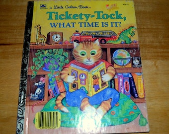"""Vintage Little Golden Book """" Tickety - Tock ,what Time Is It """""""