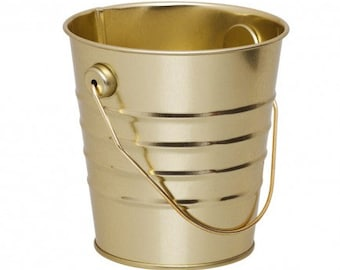 Gold Mini Tin Bucket