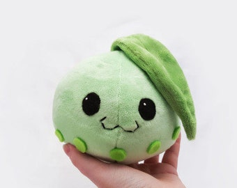 Round Chikorita Plush- Cute Pokemon Doll