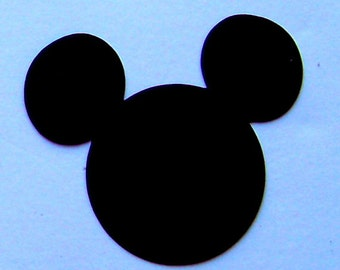 6   Mickey Mouse heads 8 inch black cardstock