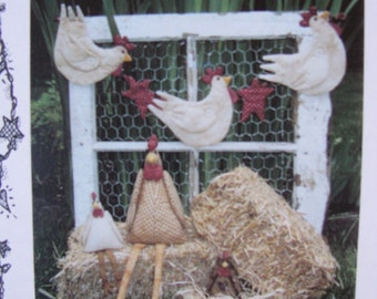 Soft Fabric Chicken Doll and Garland Pattern