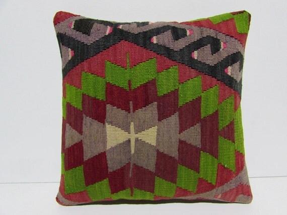 Eclectic Pillow Cases : kilim pillow 18x18 eclectic kilim pillowcase easter kilim