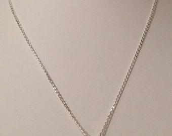 Sterling Silver Blue Opal Butterfly Necklace
