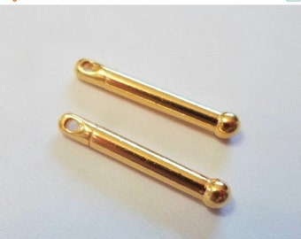 BIG SALE 2 TierraCast 19mm Straight Bead Bars, Gold
