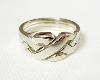 neo unique puzzle rings by puzzleringmaker sterling silver