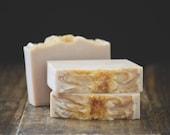 Brown Sugar + Fig Soap | Warm Tropical Sweet Scented Body Wash Bar, Cold Process, Vegan, Handmade, Tan, Artisan Gender Neutral Gift, Mild