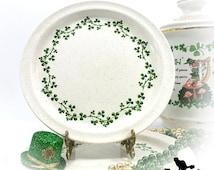 Wild Shamrock Salad Plate by Arklow Pottery, Vintage St Patricks Day Decor, Irish Tableware