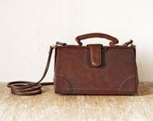 80s Vintage Leather Shoulder Handbag, Crossbody Leathe Handmade Woman Purse, Retro Genuine Leather Woman Shoulder Bag
