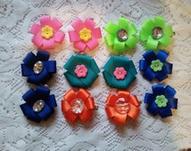 Little Posey flower hair clips your choice of color