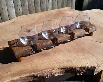 barn wood beer sampler board
