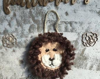 Mini animal weaving head, elephant, lion, octopus, rabbit, nursery, home decor, children
