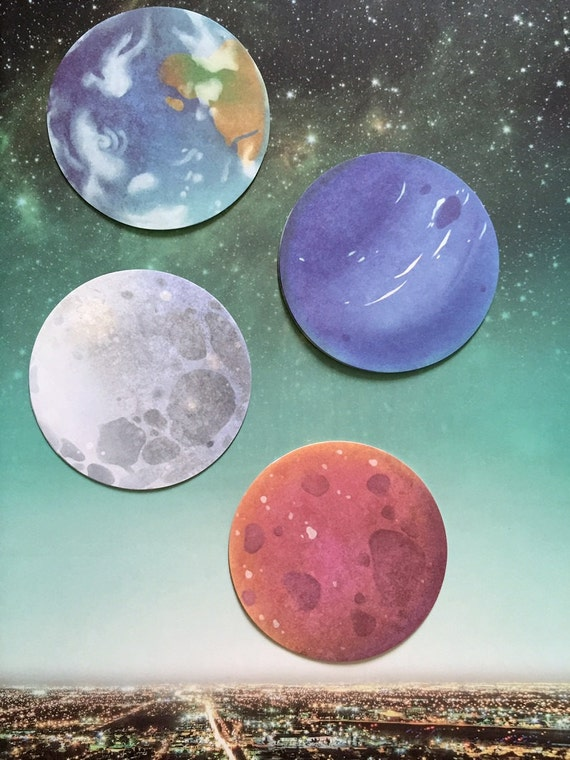 Planet Sticky Note Outer Space Planet Moon Sedna Neptune