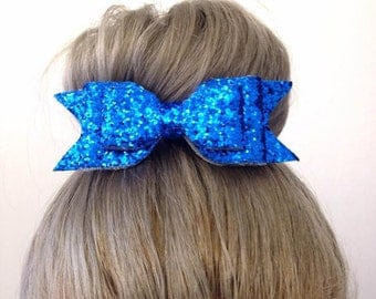 Glitter Hair bow - PinUp - Rockabilly