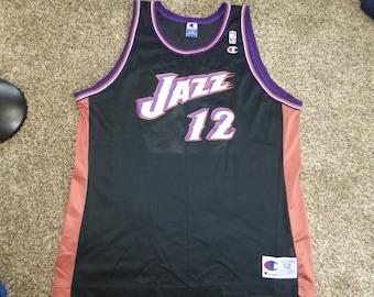 0844b9cc3e2 ... Retired Player Swingman Jersey Vintage Champion NBA Jersey Utah Jazz  John Stockton Vtg John Stockton Utah Jazz NBA Champion Jersey Sz Mens 52  2XL ...