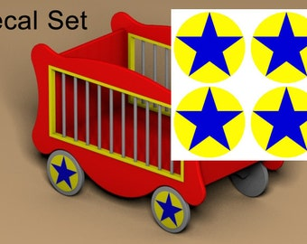 Circus Wagon Toy Box Decal Set