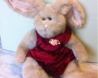 Ty Bunny Rabbit Plush Stuffed Animal Toy, 1993, 11''