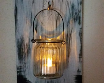 Adorable Rustic  Distressed Wall Candles