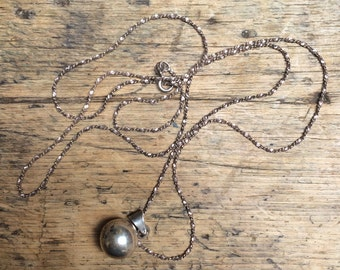 Sterling Silver Globe Charm Necklace