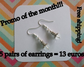 Promo of the month! 5 pair earrings for 13 euro incl. shipping!