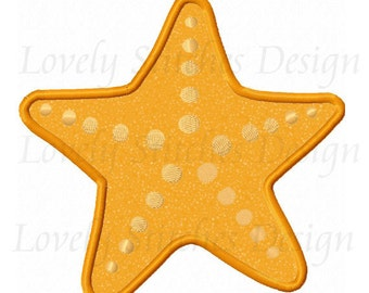 Summer Starfish Applique Machine Embroidery Design NO:0552