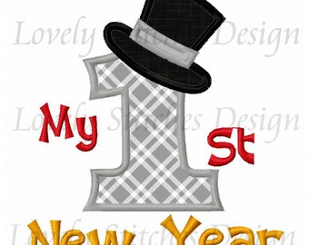 My 1st New Year Applique Machine Embroidery Design NO:0483