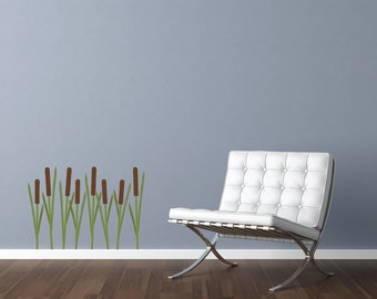 Cattail Wall Decals - Garden Fabric Wall Decals