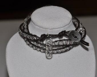 SALE! Wrap Bracelet Iridescent Clear Crystal #509