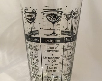 Vintage Mixing Glass / Tumbler Mixed Drinks