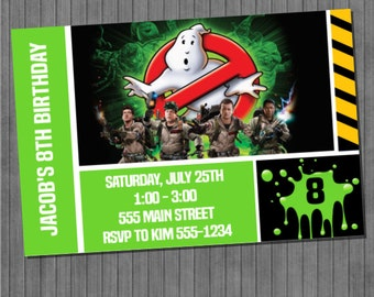 ON SALE!!  Ghostbusters Invitations