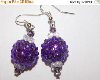 25%OFF Purple Rhinestone Earrings