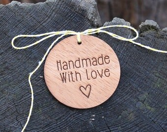 Handmade With Love Gift Tags // Repurposed Wood