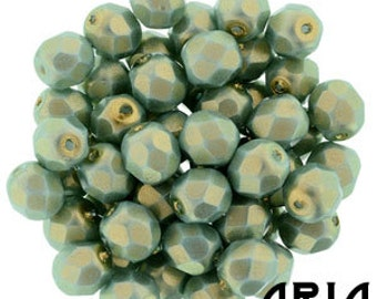 HALO ETHEREAL HEAVENS: 6mm Faceted Round Firepolish Czech Glass Beads (25 beads per strand)