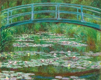 "Claude Monet : ""The Japanese Footbridge"" (1899) - Giclee Fine Art Print"