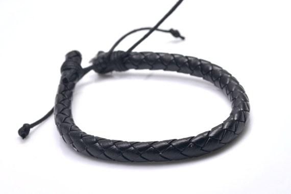 Bracelet homme cuir noir – 15,00€