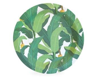 Tropical Dessert Plates (Set of 12) - Troppo Leaf