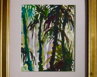 WATERCOLOR LANDSCAPE/ Palm Trees