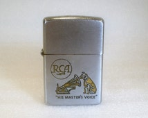 Vintage Rare ZIPPO Lighter /Advertising Nipper for RCA / His Master's Voice /  !953 to 1955 with Patent 2517191 Pat. Pend.