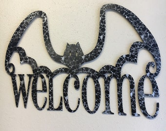 Welcome Bat Sign