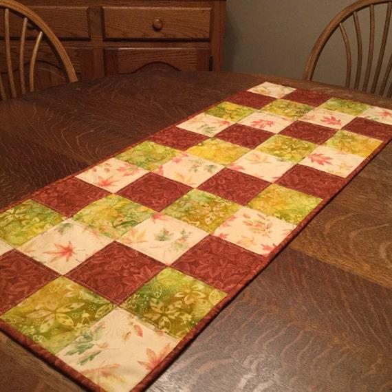 Quilted table runner, quilted runner, table runner, patchwork table runner, fall table runner, quilted fall runner, country table runner