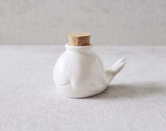 Whale Jar - Whale Air Plant Holder - Whale Decor - Whale Jewelry Holder - Whale Ring Dish