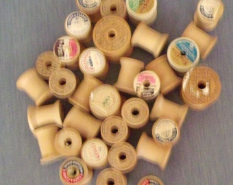 Wooden Spools for Crafting or Toys