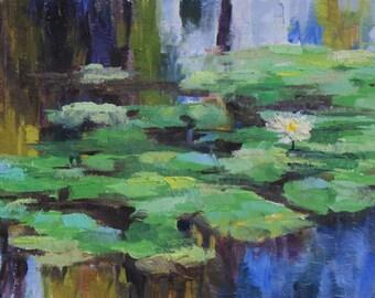 Pond Delight - Oil - 6 x 8