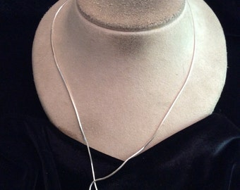 Vintage Sterling Silver Long Snake Chain